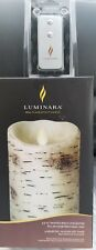 Luminara Flameless Candle - Painted Birch (5hrs) 3.5 × 7 Pillar with remote