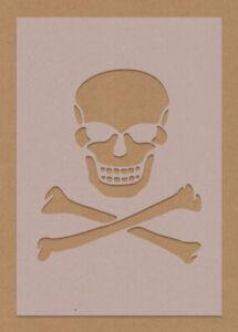 Skull and Cross Bones Stencil Pirate Bedroom Theme Crafting Bar