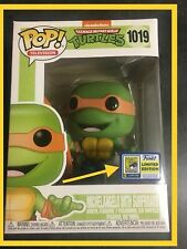 FUNKO POP TMNT MICHELANGELO WITH SURFBOARD #1019 SDCC 2020 LIMITED STICKER
