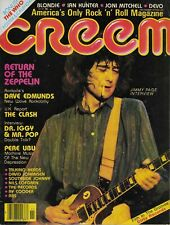 11/79 CREEM magazine  JIMMY PAGE cover  Led Zeppelin  The Clash  Iggy Pop