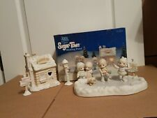 Precious Moments Sugar Town Skating Pond 184128 7 Piece Collector's Set 1996