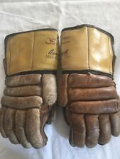 Vintage Cooper Weeks Canada Leather Ice Hockey Gloves sz 9 Armourist Armourclad