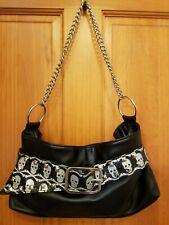 Bioworld Merchandising Black Bag With White Skulls/Studs gothic punk rave chain