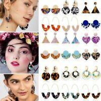 Punk Geometric Acrylic Dangle Earrings Hoop Statement Women Wedding Jewellery