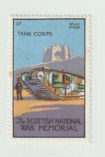 Scottish national War Memorial No.27 Tank Corps- poster stamp full gum & hinged