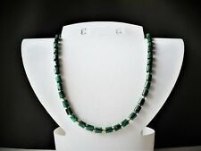 Collier (85 cm) opera malachite synthétique perles tubes 6*6 mm homme ou femme
