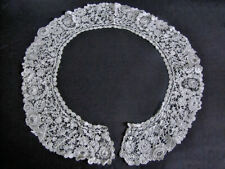 Antique Collar Handmade Brussels Bobbin Lace with Point de Venice Inserts