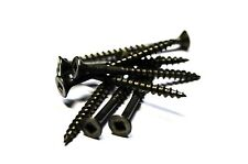 (500) 8x2 Square Flat Head Wood Screws (Plain and Lubed)