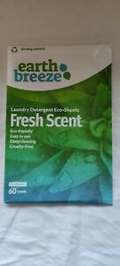 Earth Breeze Laundry Detergent Eco Sheets Fresh Scent 60 Washes - Zero Waste NEW