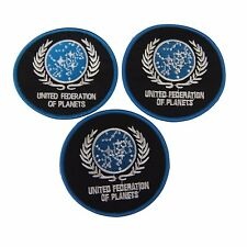 Star Trek United Federation of Planets Logo Embroidered Patch Set of 3