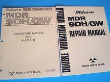 Mikasa DoubleVibrationRoller MDR-9DH/GW InstructionManualandPartsList &Repair Ma