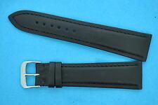 véritable cuir de Russie Bracelet en cuir 22mm noir avec 18mm FERMOIR