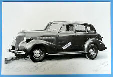 "1939 Chevrolet Master Deluxe 4 Door 12 By 18"" Black & White Picture"