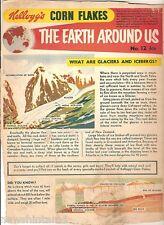 #T78.  1957 - 58  KELLOGG'S CORN FLAKES THE WORLD AROUND US  BACK PANEL #12