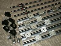SBR16-300+SBR20-700/800mm linear rail set+3 ballscrew RM1605+BK/BF12 bearing CNC