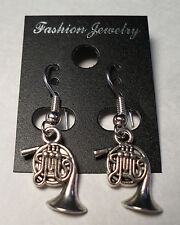 Tibet Silver French Horn Earrings Silver French Hooks FREE SHIPPING #E31