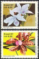 BRASILE 1987 Orchidee/Piante/NATURA/Fiori 2 V Set n29331