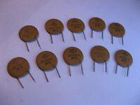 Capacitor Ceramic Disc 120pF 10% 1000V 1KV Centralab NPO - NOS Qty 10