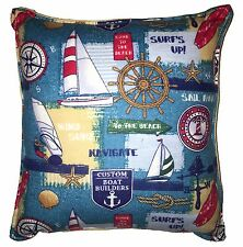 Sail Boat Pillow Handmade In USA Nordic Pillow Sailors Anchor Pillow Lighthouse