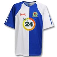 06 / 07 - LONSDALE ; BLACKBURN ROVERS HOME SHIRT SS = SIZE LARGE BOYS