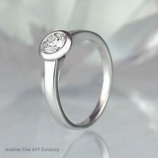 Anello 750/- Oro Bianco - 1 Diamante 0,50 ct. Top Wesselton/afgani ottimo stato