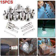 15X Diamond tool drill bit hole saw set for glass ceramic marble 6-50mm Etp