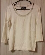Jones New York Signature - White Knit Blouse Top Size Small     B17/