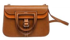 Hermes Fauve and Potiron Barenia Mini Halzan 22 Bag