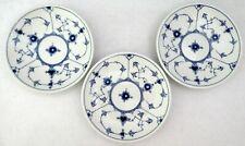 Bing & Grondahl Saucers DENMARK Blue White Half Lace 104 B & G Lot of 3