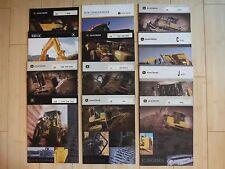 John Deere Construction Equipment Dealer Brochures (12) with Specifications