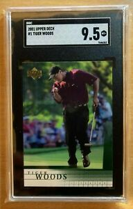 2001 Upper Deck Tiger Woods Rookie Card #1 SGC 9.5 MINT+ Great Investment HOT $$