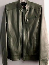 Johncen Leather Jacket, New Dark Green, Size M/L