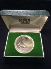 1980 New Zeland Proof Silver Dollar Faintail In Original Box! Low Mintage