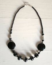 COLLANA DONNA ARGENTO INDIANO E ONICE NECKLACE INDIAN SILVER AND ONYX