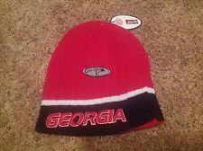 Georgia Bulldogs Officially Licensed Collegiate Reversible Beanie Hat-BNWT's