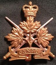 CANADIAN ARMY GENERAL LIST cap badge 1953-'68 Canada bi-metal hat brass