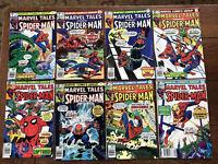 Marvel Tales Spider-Man Lot Of 8 Bronze Age 1981 RUN  (#'s 123-130) Comics