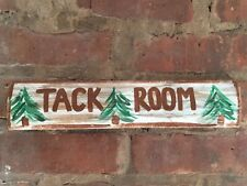 Rustic Tack Room Reclaimed Recycled Wood Sign Horse Barn Equestrian