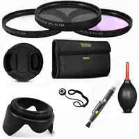 58MM FILTER KIT UV/CPL/FLD +GIFTS FOR CANON EOS REBEL WITH 18-55MM LENS T3 T3I