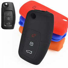 Silicone Flip Key Cover Fob Case For Ford Fiesta Focus Mondeo Kuga C-Max Galaxy