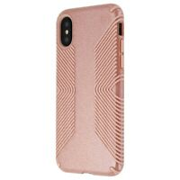 Speck Presidio Grip + Glitter Case for Apple iPhone XS and X - Pink/Gold Glitter