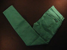 7 FOR ALL MANKIND Womens Jeans 32 x 32 MEASURED SKINNY Low-Rise GREEN (TAG 26)