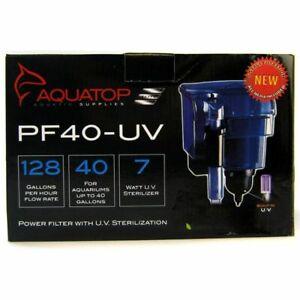 Aquatop Power Filter W/UV Sterilizer 128 GPH 7 Watt for Tanks up to 40 Gallons