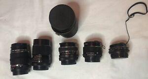 Used Camera Lenses Lot Canon Pentax Asahi Takumar Bayonet and MORE!
