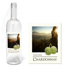 Wine Bottle Labels Self Adhesive Home Brew WaterProof Label 30 PACK - Chardonnay