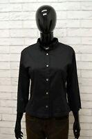 Camicia BROOKSFIELD Donna Taglia Size 42 Maglia Chemise Shirt Woman Cotone Nero