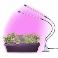 Grow Light Led Spectrum Indoor House Plants Garden Dual Head Gooseneck Lamps Diy