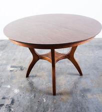 Mid Century Modern Dining Table Garrison Round Broyhill Brasilia Circlular Wood