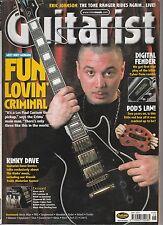 MAY 2001 GUITARIST music magazine HUEY MORGAN - LES PAUL CUSTOM