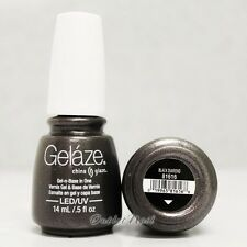 Gelaze China Glaze LED UV Nail Gel Color Polish 0.5 oz - Black Diamond 81616